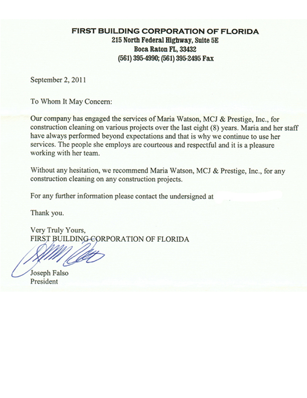 Reference letter from employer cleaner 28 images cleaning reference letter from employer cleaner reference letters mcj cleaning expocarfo